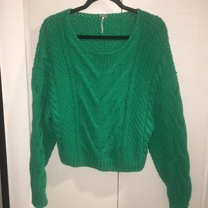 Free People Cable Knit Sweater 💚